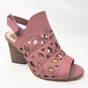 VINCE CAMUTO Deverly Cutout heeled sandals 6.5 W